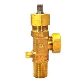 """Chlorine Cylinder Valve, CGA 820 Outlet, 3/4""""-14 CL-3, Cylinder Valve, 158 Fuse Plug, Teflon Packing"""
