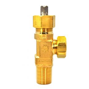 "Chlorine Valve, CGA 820 Outlet, 3/4""-14 CL-3, Ton Container Valve, Garlock Packing"
