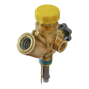 DOT 100# Liquid Service Valve 3/4''NGT Inlet x M. CGA555 Outlet - 375PSI w/11.6 Diptube